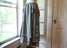 I might be in love with this skirt -> Lagenlook Linen Skirt / 'French Peasant by BreatheAgainClothing
