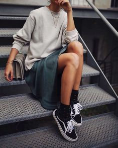 sweater with trainers