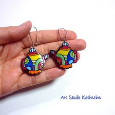 Nambi teapot earrings | I used my Nambi tutorial to make the… | Flickr