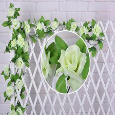 50cm Plastic Manmade Artificial Fake Flower Green Plant Leave Home Bedroom Decor