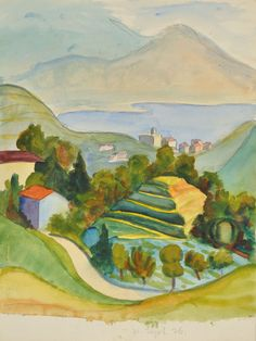 Hermann Hesse's watercolour painting of the Ticino