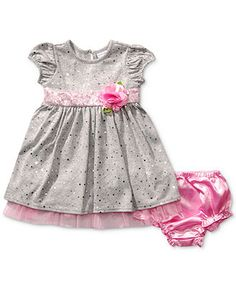 Sweet Heart Rose Baby Girls' Foil-Dot Dress--  Brendan and Arielle's Wedding!