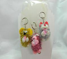 sparkling animal keychains by EllensTreasureTrove on Etsy, $10.00
