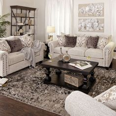 43 incredible farmhouse living room sofa design ideas and decor 21 Cozy Living Rooms, Formal Living Rooms, Living Room Interior, Home Living Room, Living Room Designs, Living Room Decor Beige Sofa, Brown Living Room Furniture, Living Room Couches, Traditional Living Room Furniture