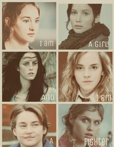 Tris Prior Divergent~ Katniss Everdeen The Hunger Games ~ Teresa Agnes The Maze Runner ~ Herminoe Granger Harry Potter ~ Hazel Grace Lancaster TFIOS ~ Annabeth Chase Percy Jackson. I love all of these books Hazel Grace Lancaster, Percy Jackson, Hunger Games, Fangirl, Citations Film, Tribute Von Panem, Image Film, Fandom Crossover, Annabeth Chase