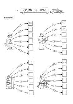 Actividades para niños preescolar, primaria e inicial. Fichas con multiplicaciones divertidas para imprimir para niños de primaria. Multiplicaciones divertidas. 3