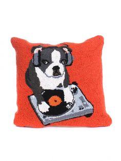 $58 I must have this!! DJ Boston Terrier Hook Pillow by Peking Handicraft, Inc. - ShopKitson.com