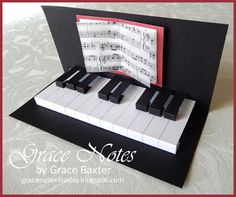 Pop-up Piano Keys, Birthday Card, by Grace Baxter