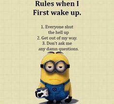 Wake up rules