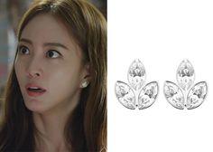 """Han Ye-Seul 한예슬 in """"Birth of a Beauty"""" Episode 5.  Swarovski Azalea Pierced Earrings #Kdrama #BirthOfABeauty 미녀의 탄생 #HanYeSeul"""
