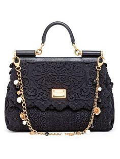 e80ed544074f Dolce   Gabbana Mini Miss Sicily Python-Trimmed Brocade Bag