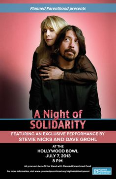 Stevie Nicks and dave Grohl at the Hollywood Bowl July 7, 2013