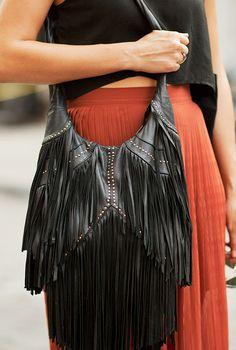 Fringe Bag in Black.