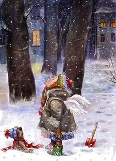 Просмотреть иллюстрацию Рождественский ангел из сообщества русскоязычных художников автора Пузыренко Марина в стилях: Детский, нарисованная техниками: Растровая (цифровая) графика.