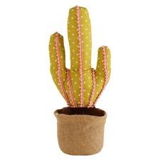 Cale porte cactus vert et rose H.47cm | Maisons du Monde