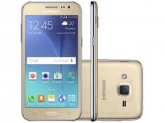 Smartphone Samsung Galaxy J2 TV Duos 8GB Dourado - Dual Chip 4G Câm 5MP Tela…