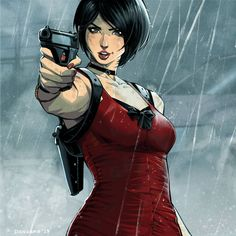 Resident Evil 2 -Ada Wong by HeavyMetalHanzo on DeviantArt Resident Evil Anime, Resident Evil Girl, Jagodibuja Comics, Ada Wong, Evil Art, Fanart, Marvel, Video Game Art, Game Character