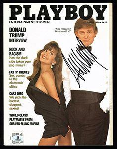 Donald J. Trump Signed March 1990 Playboy Magazine Autographed Bas #A0