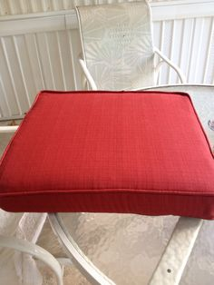 Finished Red Cushions, Vanity Bench, Furniture, Home Decor, Red Pillows, Decoration Home, Room Decor, Home Furnishings, Home Interior Design