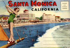 Old Santa Monica postcard. Hagins collection.