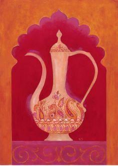 Paisley #Tea #Art Print