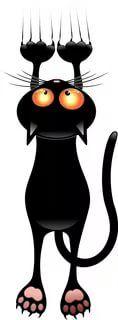черный кот рисунок: 14 тыс изображений найдено в Яндекс.Картинках