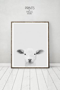 Lamb print Nursery Animal Kids room Modern by PrintsMiuusStudio