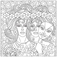 Free Printable Gemini Adult Coloring Page Download It In PDF Format