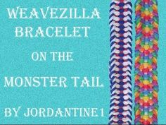 Monster Tail WEAVEZILLA Bracelet. Designed and loomed by jordantine1. Click photo for YouTube tutorial. 05/11/14.