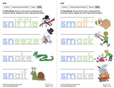 "Produce Consonant Blends ""Sm"" and ""Sn"": Lesson 3, Book 2 (Newitt Grade 1 Prereading Series)"