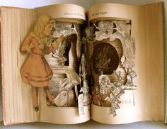 Altered Book   Alice's  Wonderland by Raidersofthelostart on Etsy, $550.00