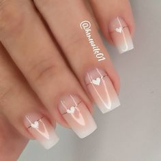 Chic Nails, Stylish Nails, Manicure And Pedicure, Gel Nails, Nails Design With Rhinestones, Nail Art Designs Videos, Elegant Nails, Nagel Gel, Best Acrylic Nails