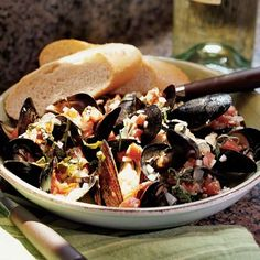 Dive into this elegant recipe featuring mussels in tomato-basil wine sauce. Because the mussels cook quickly, this impressive dish can be...