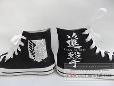 Attack on Titan Shoes painted shoes painted on converse by TMaye, $55.99