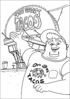 Turbo Coloring pages for kids. Printable. Online Coloring. 15