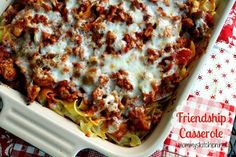 Mommy's Kitchen - Country Cooking & Family Friendly Recipes: Friendship Casserole {Share Dinner with a Friend}