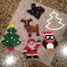 Christmas ornaments perler beads by amygym
