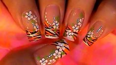 Tiger french manicure