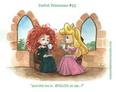 Pocket Princesses #22 - Merida's First Tea Party  Like Merida would sit around for tea!!!