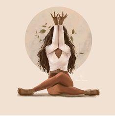 Black Girl Art, Black Art, Art Girl, Yoga Art, Feminist Art, Magic Art, Aesthetic Art, Female Art, Art Inspo