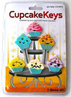 Cupcakeys - Capa para chave Cute