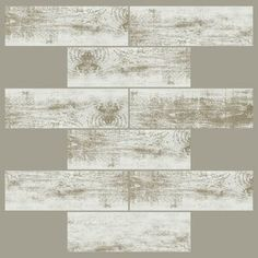 Bring beautiful patterns to your living space with the Distressed Wood Subway Peel & Stick StickTiles from RoomMates. Featuring a trendy subway tile design, these PVC tiles will instantly refresh your space. Stick On Wood Wall, Peel And Stick Wood, Stick On Tiles, Vinyl Wall Panels, Wood Panel Walls, Peel Stick Backsplash, Backsplash Tile, Smart Tiles, Accent Wall Bedroom