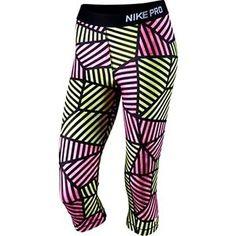 Nike Pro Core Web Fade Women's Compression Capri Tights 799096 Was $60 Small