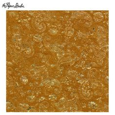 "Gold Crinkle Paisley Scrapbook Paper - 12"" x 12"" $1.00"