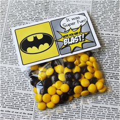 "Superhero Collection. BATMAN Favor Tag (5"" wide fold over). DIGITAL DOWNLOAD. DiY Printable Design. Pinkadot Shop on Etsy, $5.00"