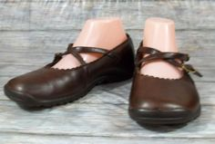 Skechers Active Loafers Womens Size 8 M Solid Brown Leather Shoes #SKECHERS #LoafersMoccasins #Casual
