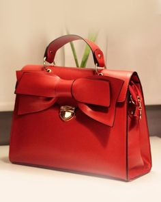 Red Big Bow Bag