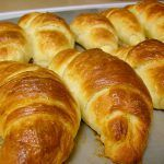Hot and fresh every morning. Ham and cheese filled croissants at the Mockingbird Cafe and Bakery! Vegan Croissant, Mini Croissant, Food N, Food And Drink, Donuts, Sweet Dough, Brunch, Pan Dulce, Gourmet