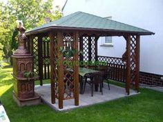Altana drewniana Ewa 3000 x 3000 Backyard Gazebo, Backyard Patio Designs, Pergola Designs, Barbecue Garden, Outdoor Restaurant, Fairy Houses, Garden Paths, Garden Furniture, Living Room Decor