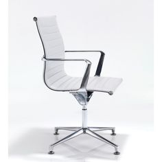 Blade Designer White Faux Leather Conference Chair